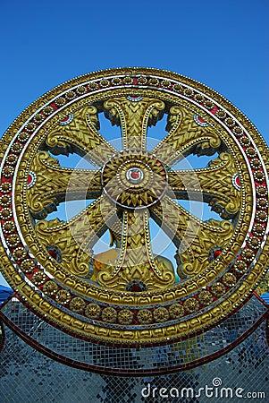 Gold scruple circle.