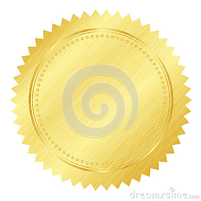 Free Gold Seal Stock Photography - 24715472