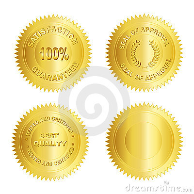 Gold seal /Stamp /Medal blank