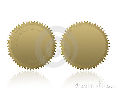 Gold Seal /Stamp /Medal Blank Stock Photos - Image: 2745483