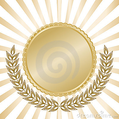 Free Gold Seal With Rays Stock Image - 6737481