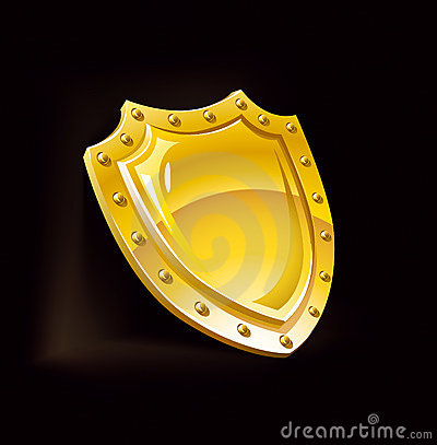 Gold security shield guard safety