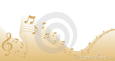 Gold Sheet Music Page Border