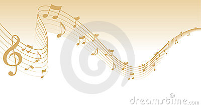 Gold Sheet Music Page Border