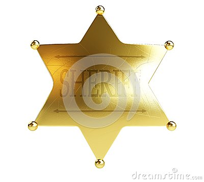 Gold sheriff s badge