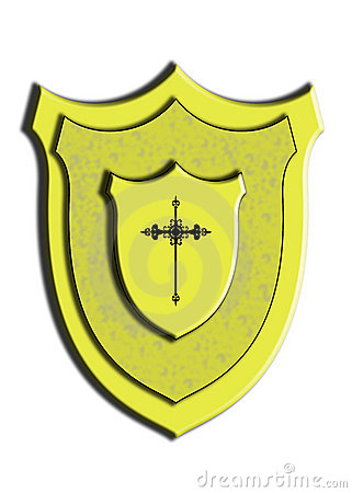 Free Gold Shield Gothic Cross Royalty Free Stock Image - 14092716