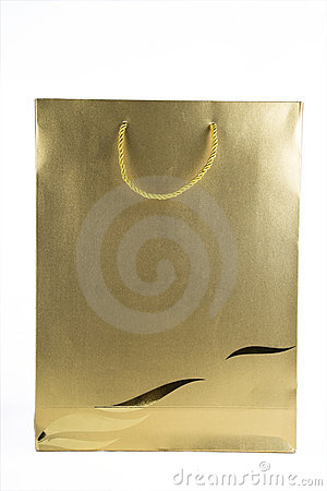 Gold Shopping Bag
