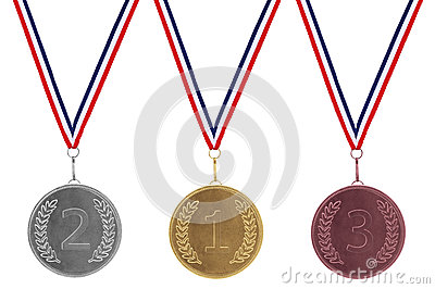 Gold Silver & Bronze Medals