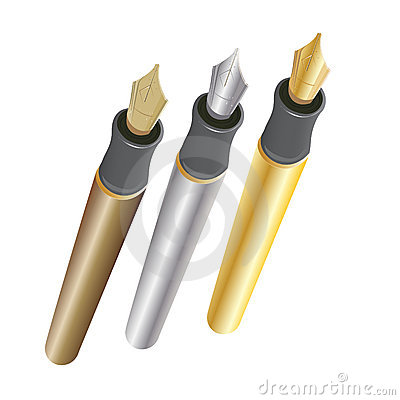Gold Silver and Bronze Pens
