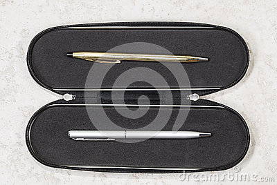 Gold and Silver Pen Set