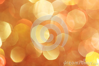 Gold, silver, red, white, orange abstract bokeh lights, defocused background Stock Photo