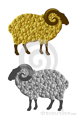 Gold and silver sheep
