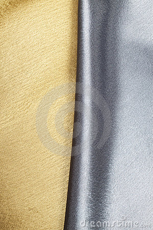 Gold and silver silk