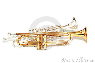 Gold and silver trumpets