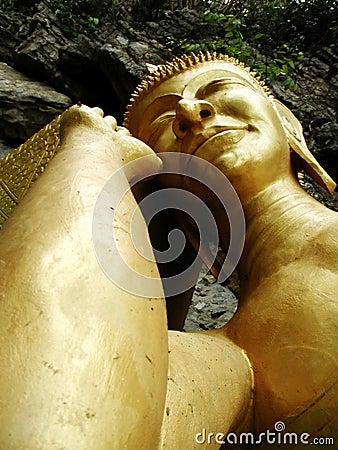 Gold Sleeping Buddha