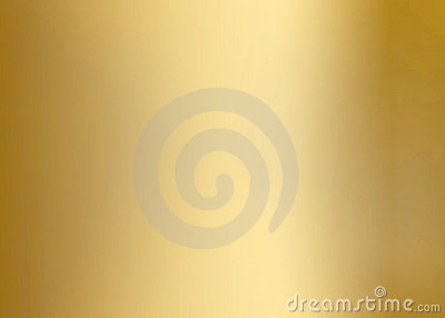 Gold Smooth Metal Plate Stock Photo