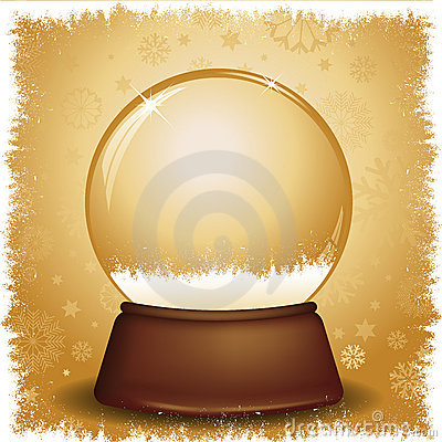 Gold snow globe