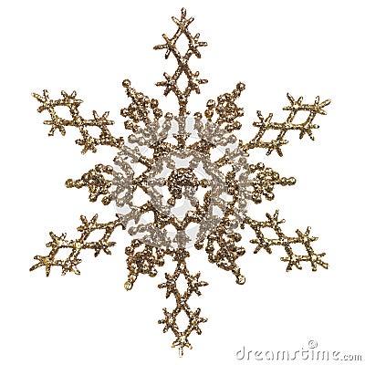 Gold Snowlfake Christmas Ornament