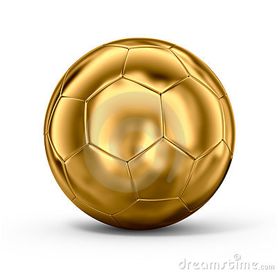 Gold Soccer Ball Royalty Free Stock Photography - Image: 11080557