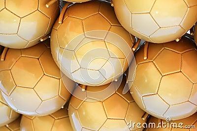 Gold Soccer Balls
