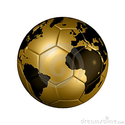 Free Gold Soccer Football Ball World Globe Royalty Free Stock Photography - 12246007