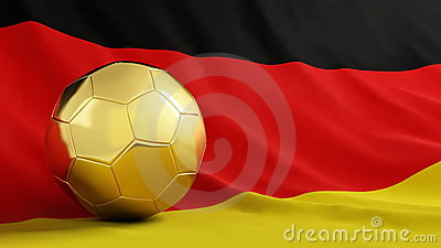 Gold soccer Germany