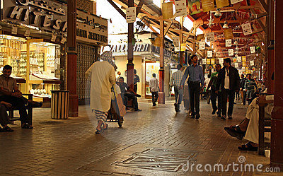 Gold souk (market) in Dubai Editorial Photography