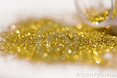 Gold spangle in tube