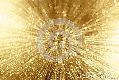 Gold Sparkle Zoom Stock Photo