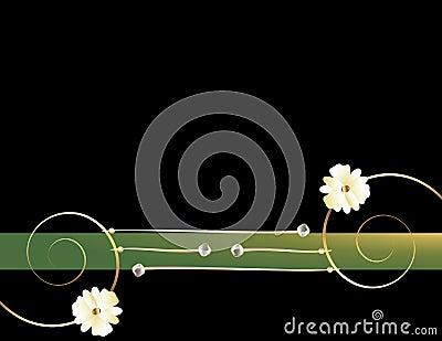 Gold spiral black green image 2