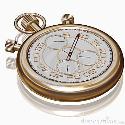 Gold sport Stopwatch on white