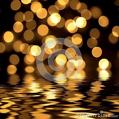Gold spots bokeh background