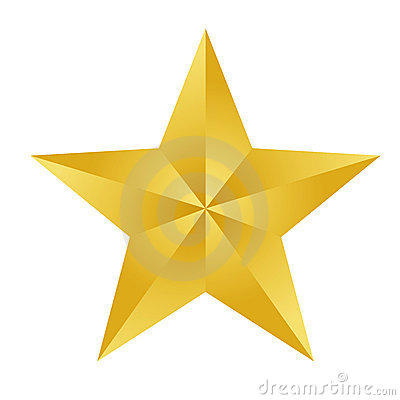 Free Gold Star Royalty Free Stock Photo - 12541725