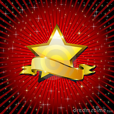 Free Gold Star. Royalty Free Stock Images - 14745189