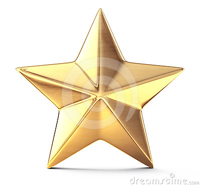 Free Gold Star Stock Photo - 24448270