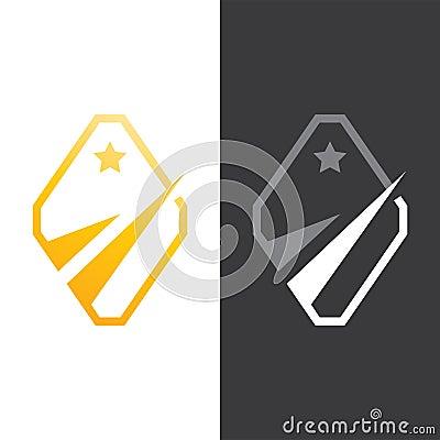 Gold Star Finance Logo Vector Vector Illustration