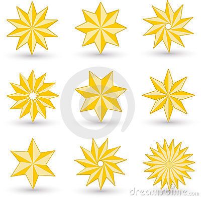Gold star icons