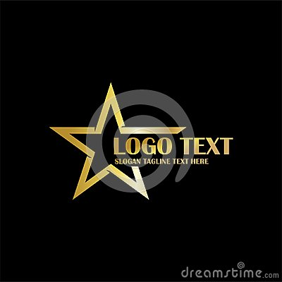 Free Gold Star Logo Theme Icon Stock Photo - 120986130