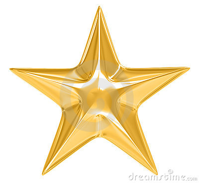 Gold Star On White Background Stock Image - Image: 13921371