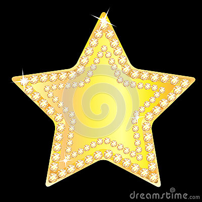 Free Gold Star With Sparkling Stones Stock Photos - 31117793