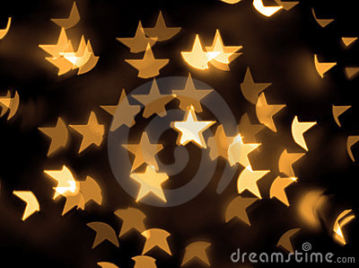 Gold stars bokeh background