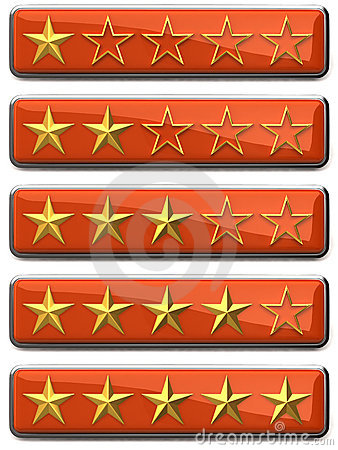 Gold stars ratings