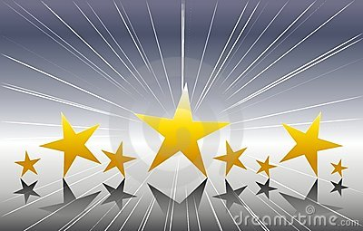 Gold Stars on Silver Background