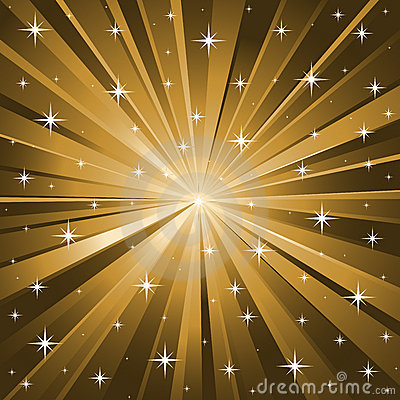 Gold Stars Vector Background Stock Image Image 6628041