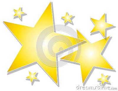 gold stars background. GOLD STARS ON WHITE BACKGROUND