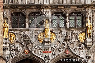 Gold Statues At The Basilius
