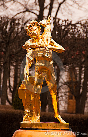 Gold Statues of Peterhof