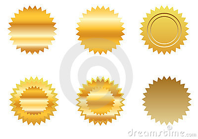 Gold sticker set