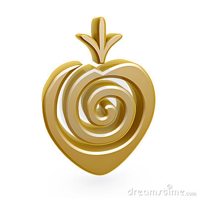 Gold strawberry symbol