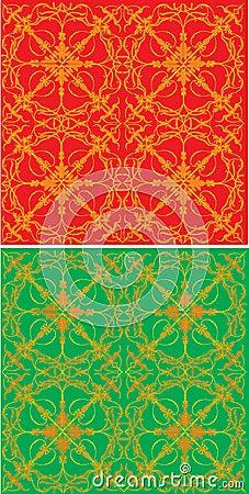 Gold symmetrical decoration